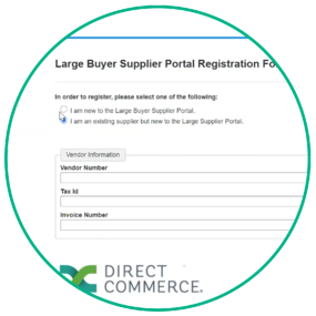 Direct Commerce Supplier Portal Registration Form