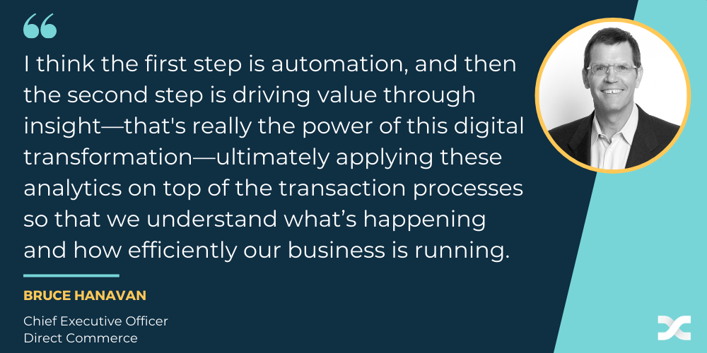 Direct Commerce CEO quote on how to build real P2P automation solutions for the world ahead