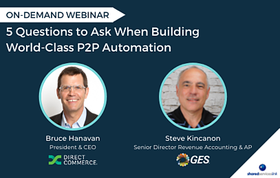 on-demand webinar with Direct Commerce and GES about building world-class P2P Automation