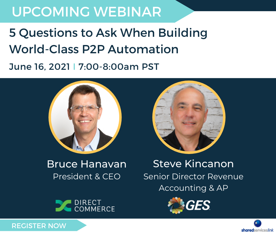 Webinar with Direct Commerce and GES on the questions to ask when building world-class P2P automation