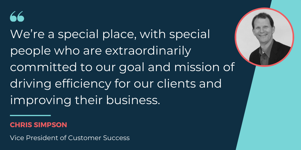 Direct Commerce's Vice President of Customer Success, Chris Simpson, quote about customer success department